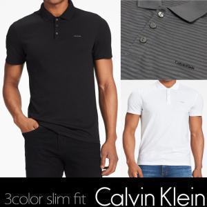 カルバンクライン CK ポロシャツ メンズ スリムフィット ブラック ホワイト グレーck332|5445