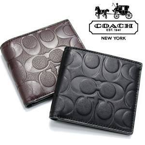 COACH コーチ 財布 サイフ 二つ折り コイン ウォレット co38 ブラウン ブラック 5445