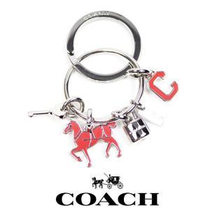 COACH コーチ  キーホルダー キーリング 母の日 誕生日 co45 ピンク 5445