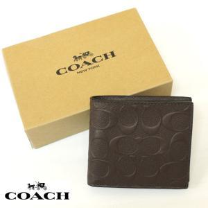 COACH コーチ 財布 サイフ 二つ折り 小銭入れ付 ウォレット co54 ブラウン 5445