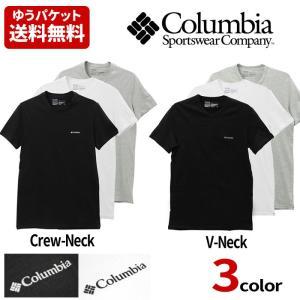 Columbia コロンビア ワンポイント Tシャツ メンズ 半袖 Vネック Crew colu01 ゆうパケット送料無料