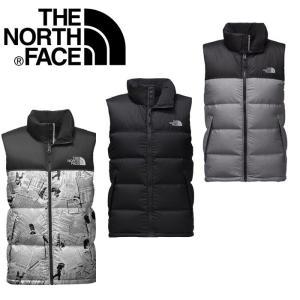 ノースフェイス ダウン ベスト TheNorthFace Nuptse Down Vest fa03 ブラック カモフラ|5445