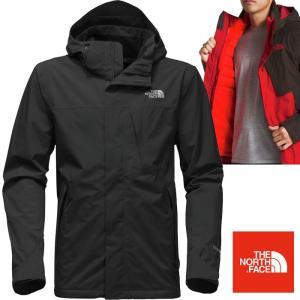 米国正規品 ノースフェイス THE NORTH FACE メンズ 3WAY ダウンジャケット Mountain Light Triclimate Hooded Jacket fa44 Black/Red  (並行輸入品)|5445