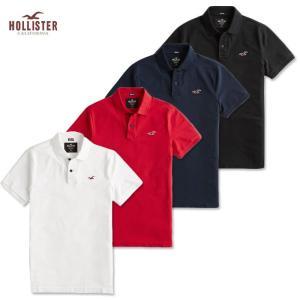 ホリスター メンズ ポロシャツ Hollister ホワイト グレー ネイビー ブラック h1070