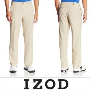 IZOD アイゾッド メンズ マイクロツイルパンツ UVカット ストレッチ スポーツチノパン Golf Pant ベージュ izod04|5445