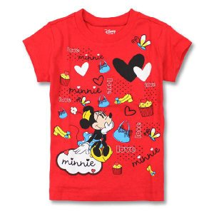 DISNEY ディズニー 子供服 Tシャツ ミニー レッド kid06 2-4歳|5445