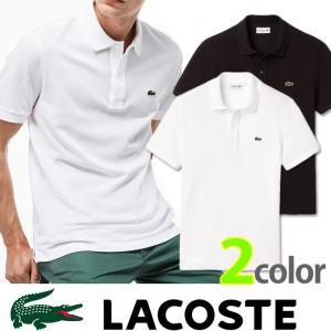 ラコステ LACOSTE メンズ ポロシャツ la12 ホワイト ブラック  ギフト プレゼントに|5445