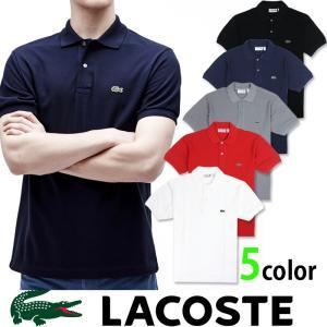 ラコステ LACOSTE メンズ 半袖 ポロシャツ la14 ホワイト ブラック グレー ネイビー レッド|5445