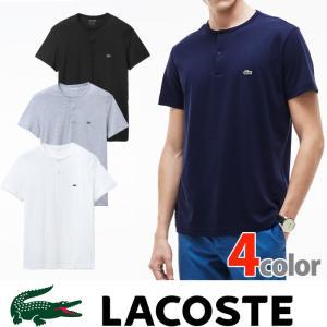 ラコステ メンズ ワンポイント ヘンリーネック Tシャツ LACOSTE US正規品 la24|5445