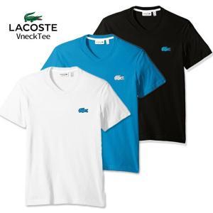 ラコステ メンズ ビッグ ワンポイント  Tシャツ LACOSTE USA正規品 la26 ホワイト ブラック|5445