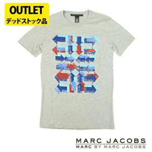 マークジェイコブス メンズTシャツ MARC BY MARC JACOBS アウトレット デッドストック品 m13 グレー 5445
