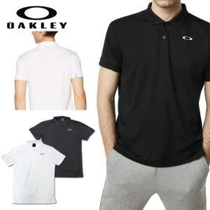 オークリー スポーツ ポロシャツ 速乾 吸汗 OAKLEY ENHANCE POLO ホワイト ブラック 白 黒 oa257 XL 大きいサイズあり|5445