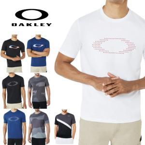オークリー スポーツ Tシャツ 速乾 吸汗 OAKLEY カモフラ 迷彩  白 黒 ブルー oa258 XL USAサイズ 大きい|5445