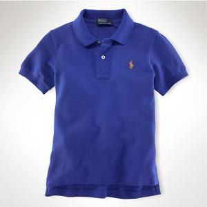 子供服 POLO Ralph Lauren ポロ ラルフローレ Classic-Fit Polo 半袖ポロシャツ polo13 Blue 1〜4歳 5445