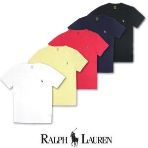 POLO Ralph Lauren ポロ ラルフローレン ワンポイント 半袖 Vネック Tシャツ r416|5445