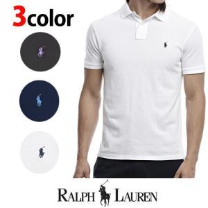 POLO Ralph Lauren ラルフローレン ポロシャツ 半袖 鹿の子 r454 黒 紺 白|5445