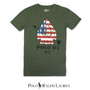 POLO Ralph Lauren ポロ ラルフローレン RRL ダブルアールエル 半袖 Tシャツ r460 オリーブ|5445