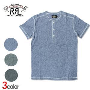 POLO Ralph Lauren ポロ ラルフローレン RRL ダブルアールエル 半袖 Tシャツ ヘンリー r468 グレー|5445