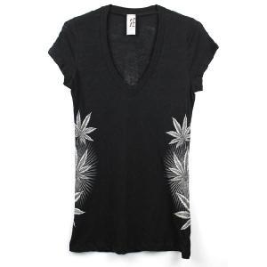 LA発ブランド Rock&Rose ラインストーン グラフィック・レディースTシャツ rr08 blackブラック 送料無料|5445