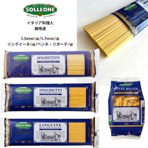 イタリア産 乾燥 パスタ 2袋セット デュラム小麦100% 選べる4種類 送料無料 sol03 ソルレオーネ 低GI 1.7mm 1.5mm カッペリーニ リングイーネ