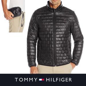 トミー  ウルトラライト ポケットボールジャケット TOMMY HILFIGER メンズ 軽量 収納コンパクト ブラック t467|5445