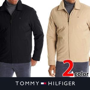 Tommy Hilfiger トミー 中綿ジャケット Men's Micro-Twill Open-Bottom Zip-Front Jacket t477 ブラック カーキ|5445