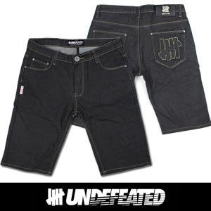 UNDEFEATED UNDFTD アンディフィーテッド メンズ ハーフ ジーンズ ud03 ブラック|5445