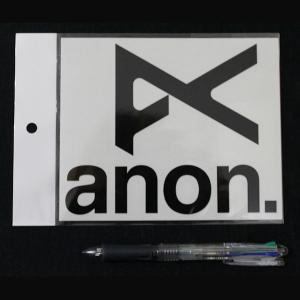 アノン ANON ブランドアイコン カッティングステッカー ブラック JPN STCKR アノン ANON BK 54tide