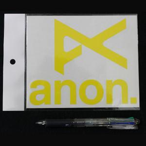 anon-290299 ANON アノン ブランドアイコン カッティングステッカー イエロー JPN STCKR ANON YL 15.2×12.3cm 54tide
