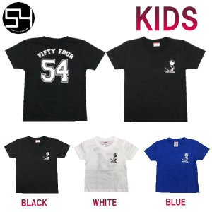 54 フィフティーフォータイド 54ORIGINAL オリジナルアイテム キッズ ジュニア ユース 半袖Tシャツ ティーシャツ TEE トップス|54tide