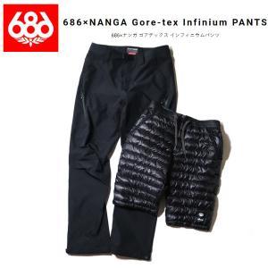 シックスエイトシックス 686 MENS 686×NANGA Gore-tex Infinium PANTS / 686×ナンガ ゴアテックス インフィニウムパンツ コラボ スノーボード パンツ|54tide