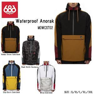 シックスエイトシックス 686 MENS  Waterproof Anorak メンズ ウォータープルーフ アノラック ジャケット 耐水 透湿 スノーボード スノーウェア M/L|54tide