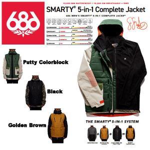 【予約受付中】【特典あり】【686】SIX EIGHT SIX OUTERWEAR 2021-2022 SMARTY 5-in-1 Complete Jacket メンズ スノージャケット アウター スノーウェア|54tide