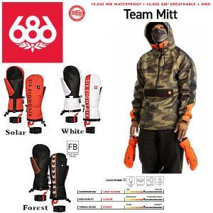 【予約受付中】686 SIX EIGHT SIX OUTERWEAR 2021-2022 GORE-TEX Linear Glove ゴアテックス 防水 グローブ スノーボード KCRGLV100|54tide