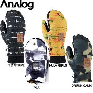 メンズ ハーフグローブ ミットカバー付 スノーボード ミトン 手袋 パイプグローブ アナログ ANALOG MARKSMAN MITT 54tide