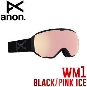 ANON アノン WM1 Goggle レディース スノーゴーグル スノーボード スノボ Black-PinkIce スペアレンズ付|54tide