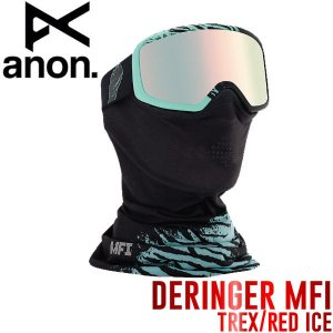 ANON アノン Deringer MFI Goggle レディース スノーゴーグル スノーボード スノボ Trex-RedIce フェイスマスク付|54tide