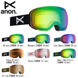 アノン ANON ASIAN FIT ANON M2 GOGGLE + SPARE LENS メンズ スノーゴーグル  スキー スノーボード ゴーグルバッグ付属|54tide