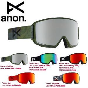 アノン ANON メンズ スノーゴーグル フェイスマスク付 スノーボード アジアンフィット 5カラー Mens Anon M3 Goggle + Spare Lens + MFI 54tide