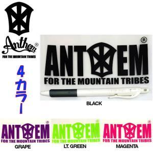 アンセム ANTHEM Blpck Small ステッカー スノーボード 縦 約6.2cm、横 約13.5cm|54tide