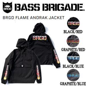 バスブリゲード BASS BRIGADE BRGD FLAME ANORAK JACKET メンズ アノラック ジャケット プルオーバー 撥水 耐水 アウトドア フィッシング M / L / XL|54tide