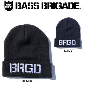 バスブリゲード BASS BRIGADE メンズ ビーニー ニット帽 ニットキャップ 帽子 フィッシング 釣り 防寒 BRGD LOGO KNIT CAP|54tide