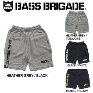 バスブリゲード BASS BRIGADE メンズ ショーツ ハーフパンツ スウェットパンツ  アウトドア フィッシング 釣り 4カラー S・M・L・XL BRGD LOGO SWEAT SHORTS|54tide