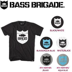 BASS BRIGADE バスブリゲード SHIELD LOGO TEE メンズTシャツ 半袖ティーシャツ アウトドアフィッシング S-XXL 5カラー|54tide