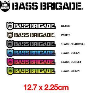 BASS BRIGADE バスブリゲード ShieldWordmark Sticker 5inch ステッカー シール 釣り/12.7cm×2.25cm|54tide