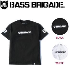 バスブリゲード BASS BRIGADE メンズTシャツ 半袖 ティーシャツ アウトドア フィッシング BASS FISHING M-XL 2カラー BRIGADE WORDMARK TEE|54tide