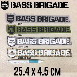 バスブリゲード BASS BRIGADE ステッカー シール 釣り 25.4cm×4.5cm 10インチ  SHIELD & WORDMARK STICKER 10inch|54tide