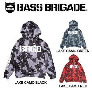 バスブリゲード  BASS BRIGADE LAKE CAMO UV CUT HOODIE メンズ パーカー プルオーバー アウトドア フィッシング 釣り S・M・L・XL|54tide