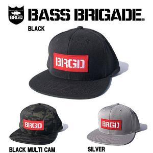 バスブリゲード BASS BRIGADE メンズキャップ スナップバックキャップ 帽子 アウトドア フィッシング 3カラー BRGD RED BOX PATCH SNAPBACK HAT|54tide