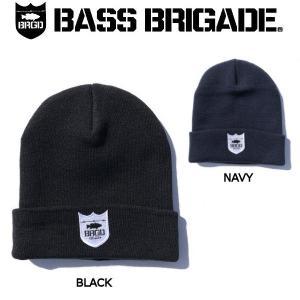 バスブリゲード BASS BRIGADE メンズ ビーニー ニット帽 ニットキャップ 帽子 フィッシング 釣り 防寒 SHIELD LOGO KNIT CAP|54tide